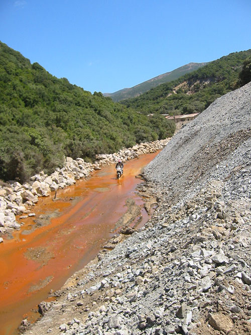 Sardegna zona delle miniere abbandonate