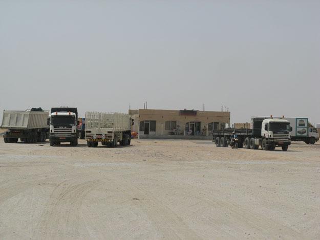 stazione di servizio, Rub al Khali - Oman in moto