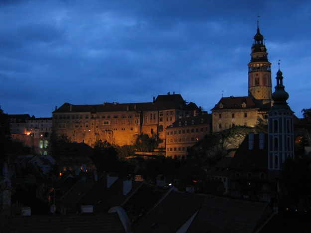 Ceski Krumlov by night