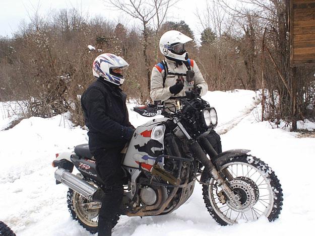 Africa Twin nella neve