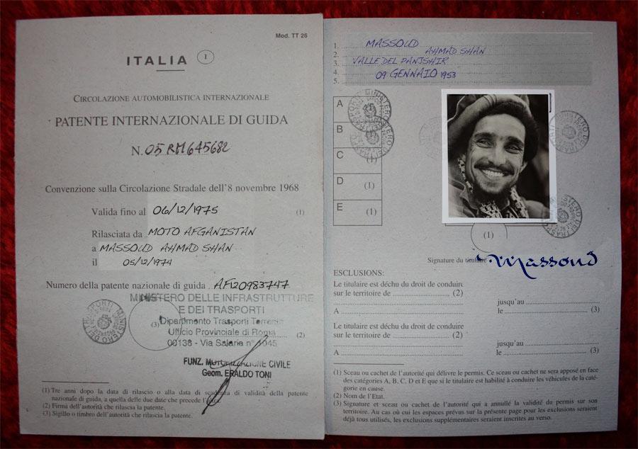 patente internazionale di massud