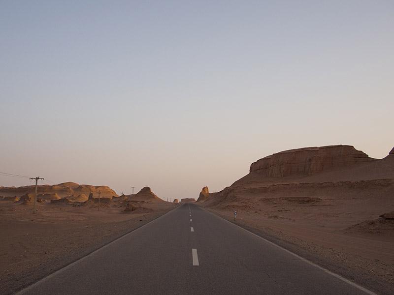 Strada che conduce al confine Iran Afganistan