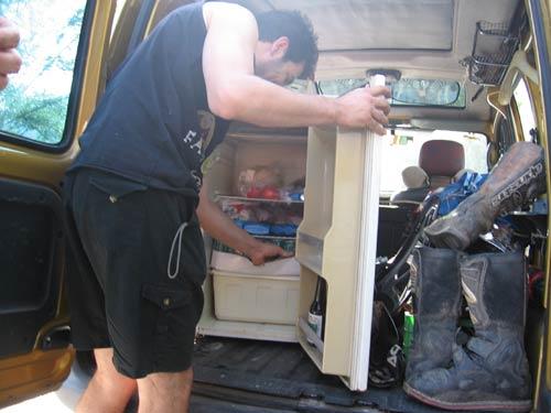 frigorifero in auto