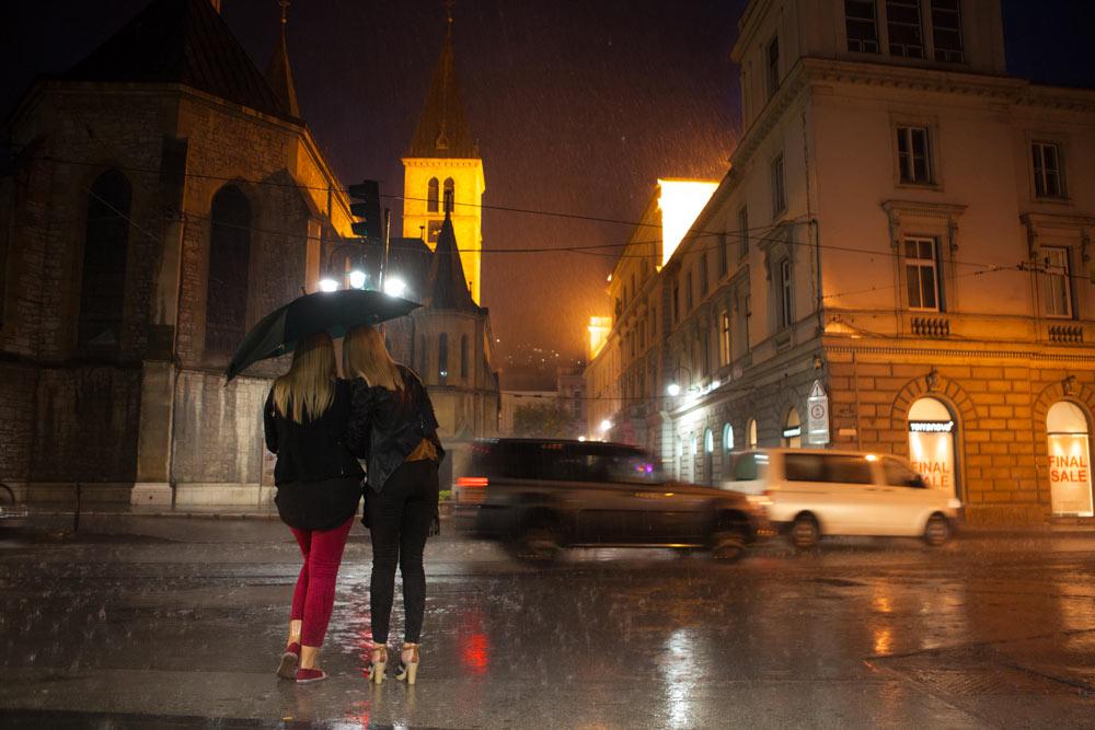 pioggia a Sarajevo