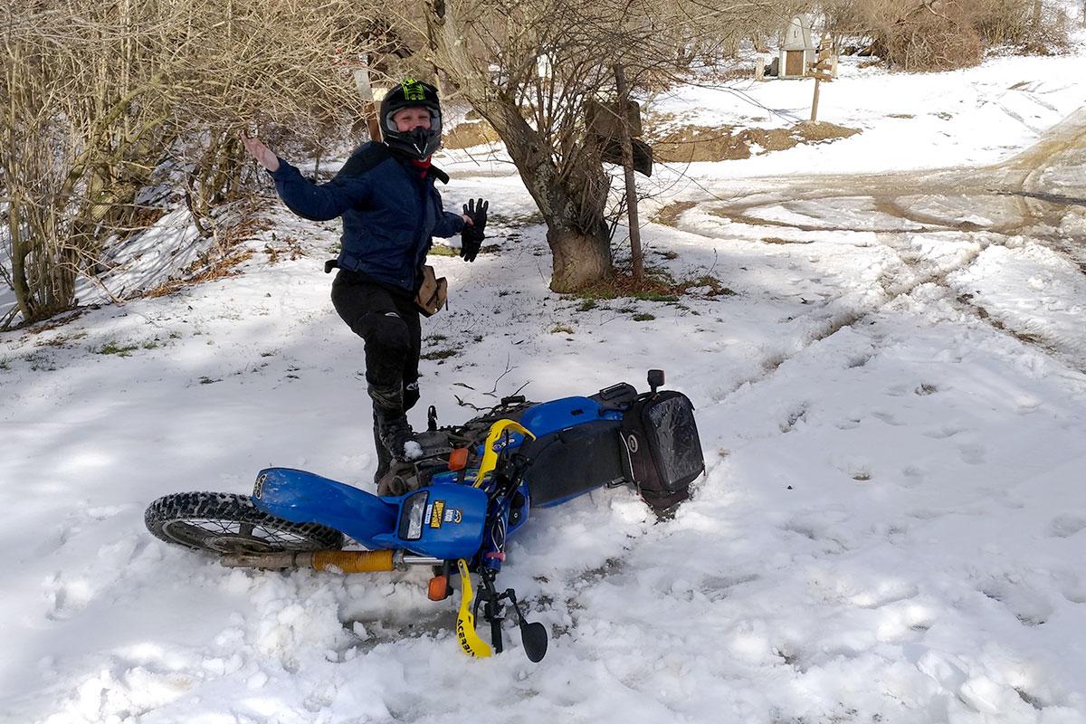 Lucia Valle fuoristrada sulla neve