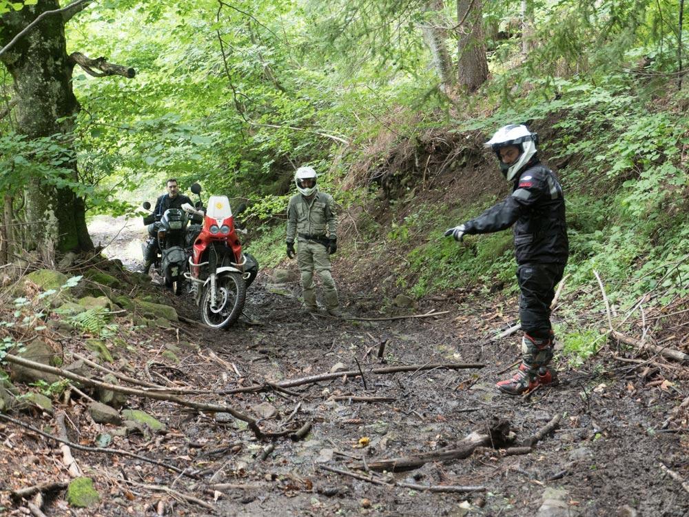 avventure in moto in Romania-2017