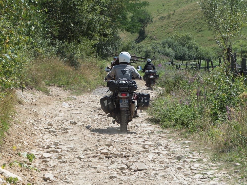 viaggio in moto in Romania fuoristrada 2017
