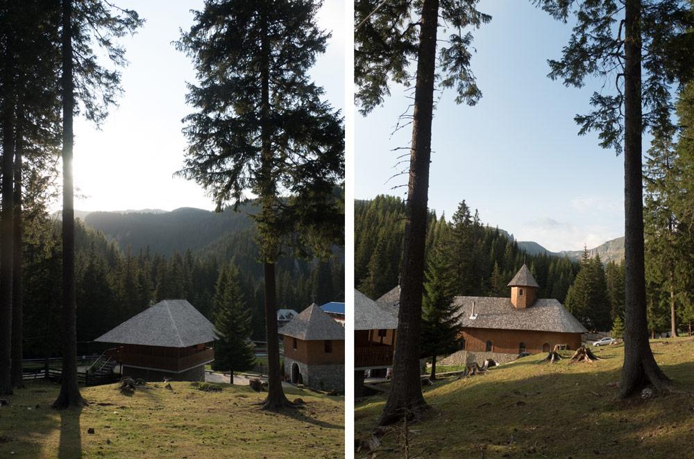 convento in Romania tra i Monti Bucegi
