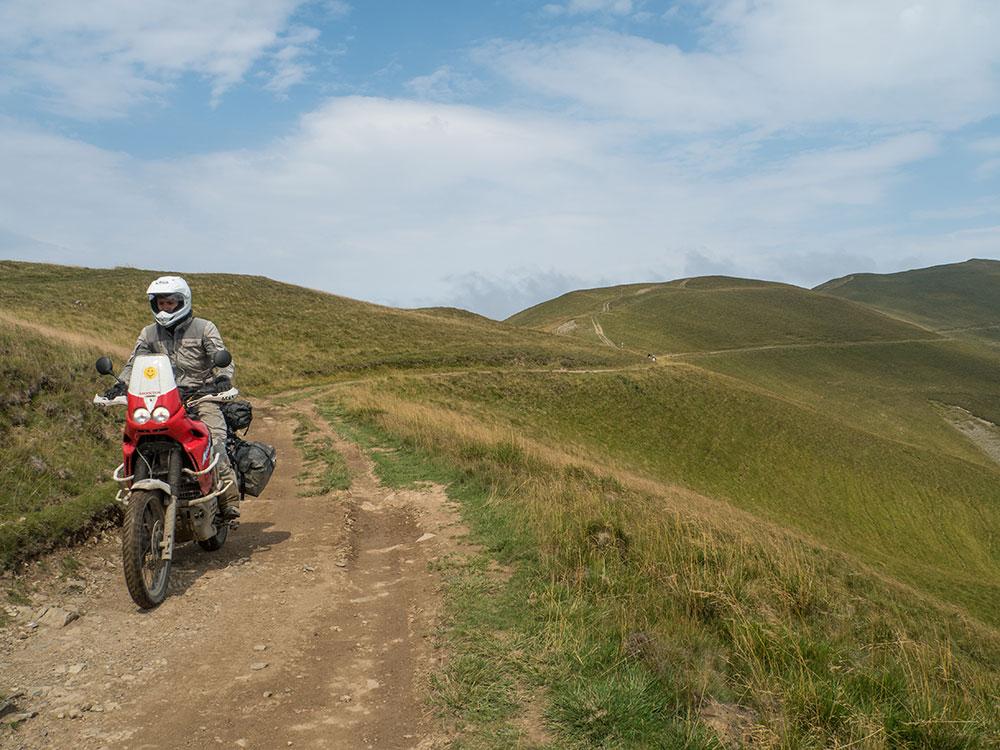 Africa Twin fuoristrada Romania